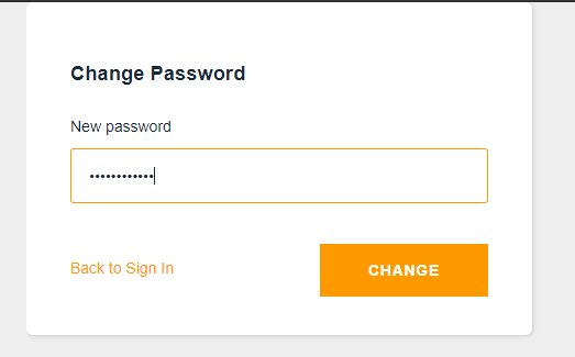 user signin new password